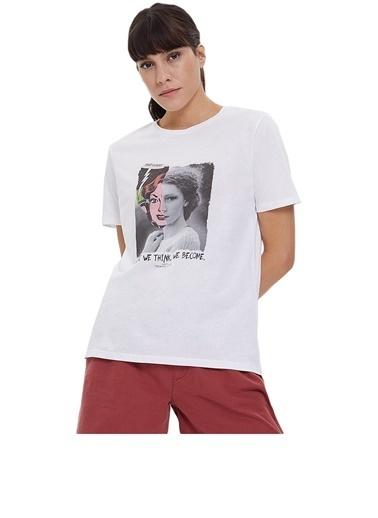 Loft Loft Kadın Tişört 2026241 2026241015 Beyaz